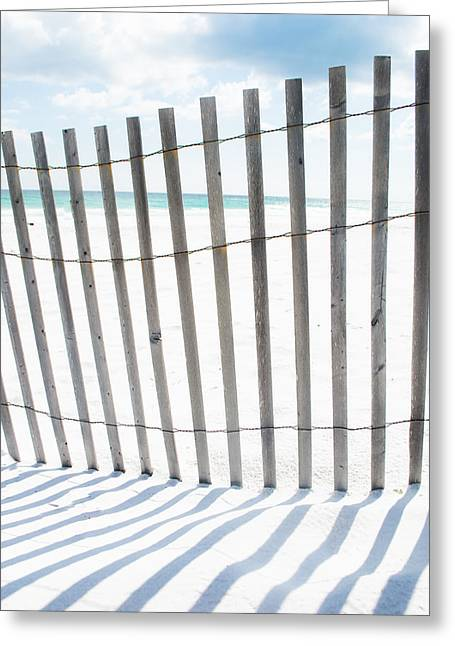 Florida House Greeting Cards - Shadows on the Beach Greeting Card by Shelby  Young