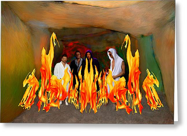 Shadrach Meshach And Abednego  Greeting Card by Bruce Nutting