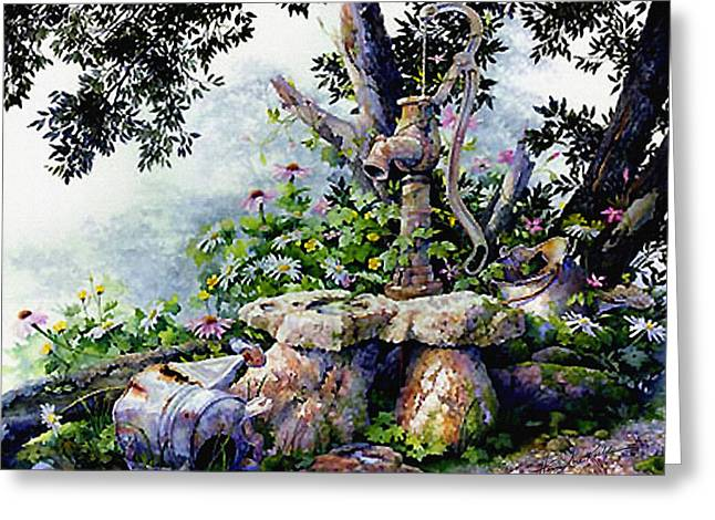 Garden Tools Greeting Cards - Shady Rest Greeting Card by Hanne Lore Koehler