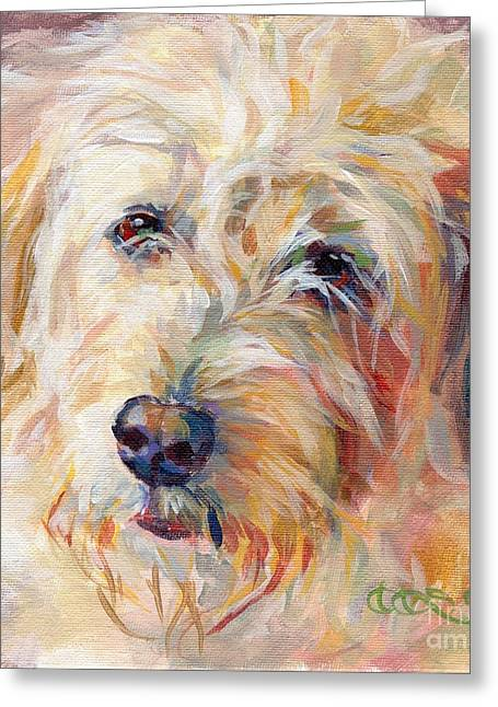 Shaggy Greeting Cards - Shaggy Schatzi Greeting Card by Kimberly Santini