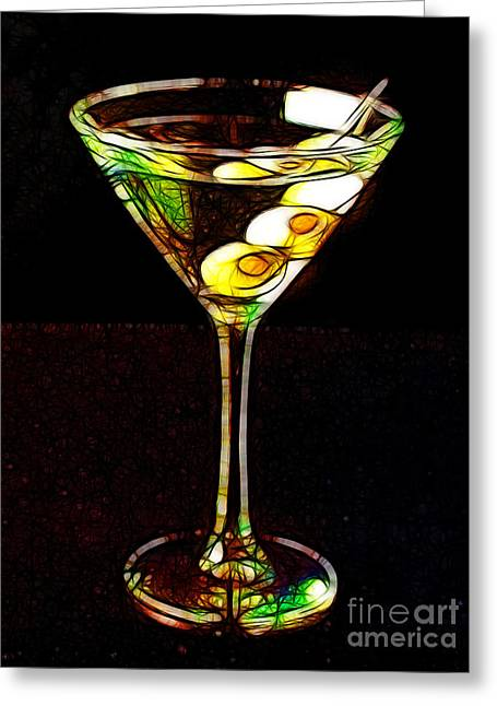 Booze Greeting Cards - Shaken Not Stirred Greeting Card by Wingsdomain Art and Photography