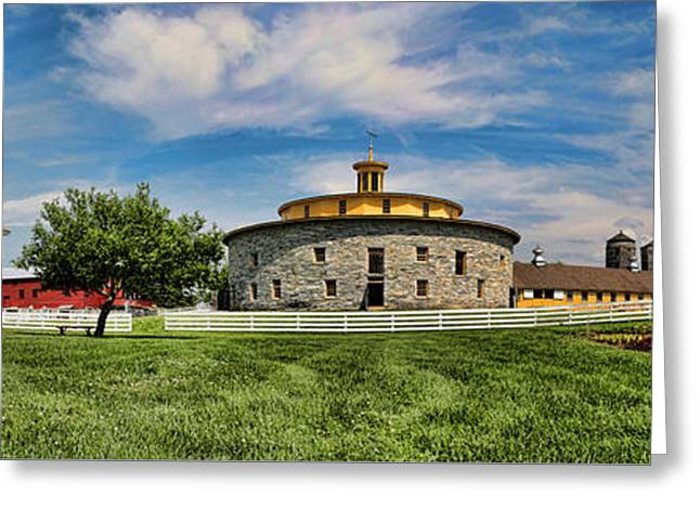 Religious Greeting Cards - Shaker Pastoral Panorama Greeting Card by Stephen Stookey