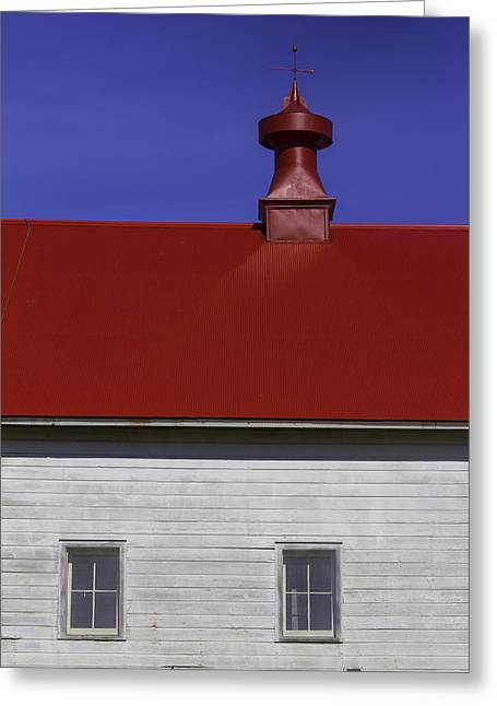 Shaker Red Roof Greeting Card by Garry Gay
