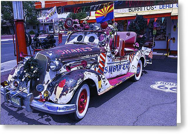 Junker Greeting Cards - Shakes Automobile Greeting Card by Garry Gay