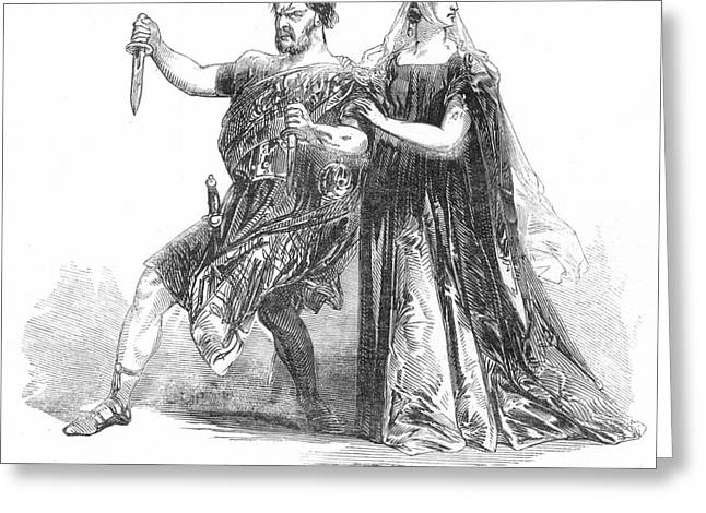 Charlotte Greeting Cards - Shakespeare: Macbeth, 1845 Greeting Card by Granger