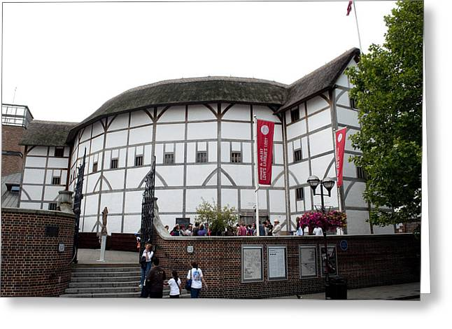 Open Air Theater Greeting Cards - Shakespeares Globe Theater Greeting Card by Charles  Ridgway