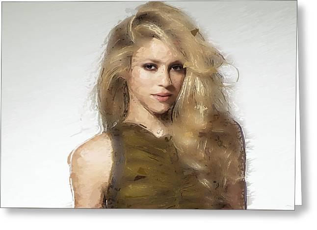 Shakira Greeting Card by Iguanna Espinosa
