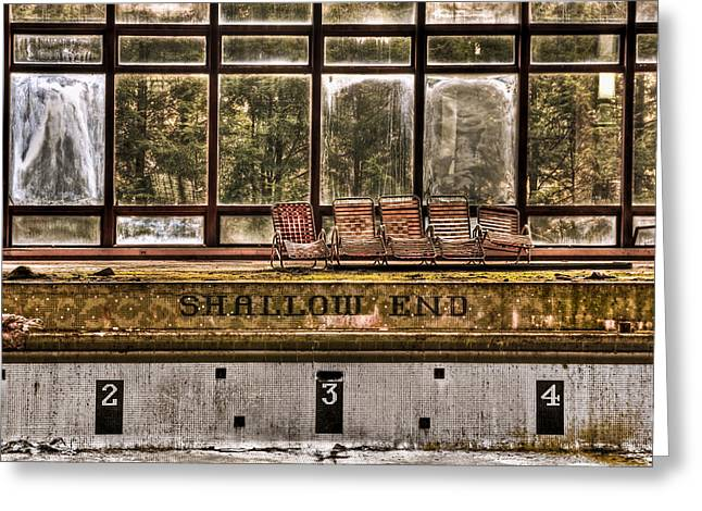Shallow End Greeting Card by Evelina Kremsdorf