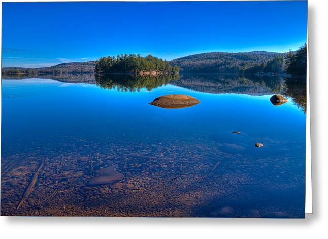 Shallow Water On Seventh Lake Greeting Card by David Patterson