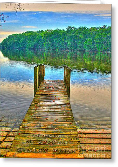 Docked Boat Greeting Cards - Shallow Water Greeting Card by Robert Pearson