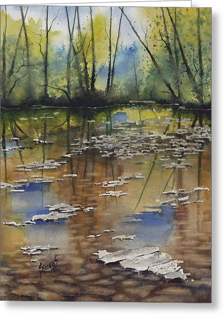 Shallows Greeting Cards - Shallow Water Greeting Card by Sam Sidders