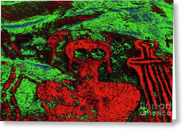 Shaman Art Greeting Cards - Shaman and Helper Greeting Card by David Lee Thompson