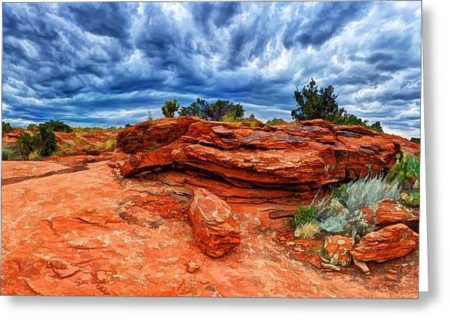 Colorful Cloud Formations Greeting Cards - Shamans Dome Storm Greeting Card by Bill Caldwell -        ABeautifulSky Photography