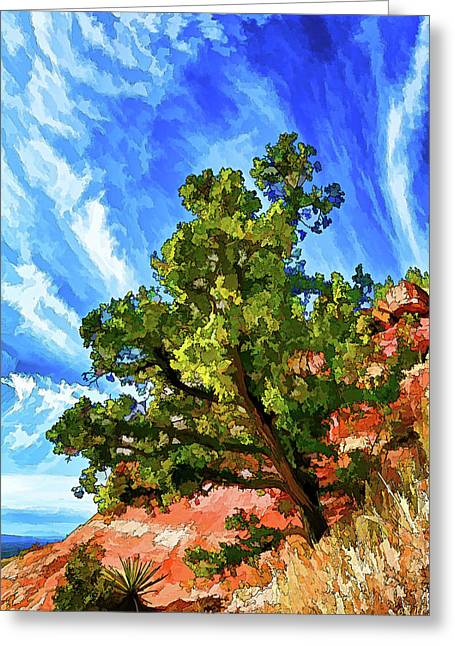 Caves Greeting Cards - Shamans Sentry Greeting Card by Bill Caldwell -        ABeautifulSky Photography