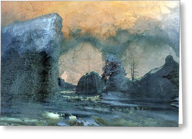 Mystical Landscape Greeting Cards - Shambala Greeting Card by Ed Hall