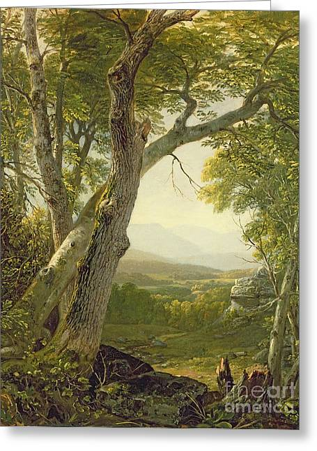 Country Schools Greeting Cards - Shandaken Ridge - Kingston Greeting Card by Asher Brown Durand