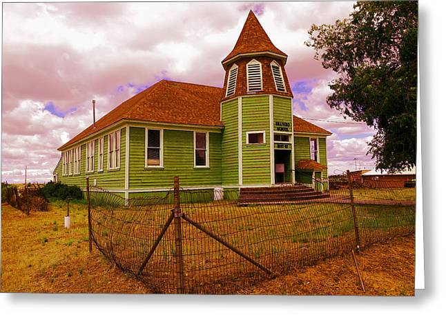 Shaniko School District Sixty Seven Greeting Card by Jeff Swan