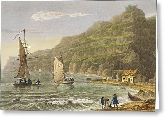 Shanklin Bay Greeting Card by Frederick Calvert