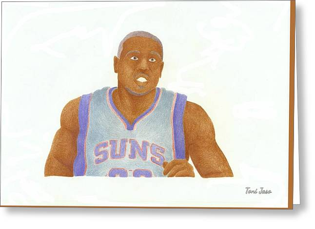 Slam Drawings Greeting Cards - Shannon Brown Greeting Card by Toni Jaso