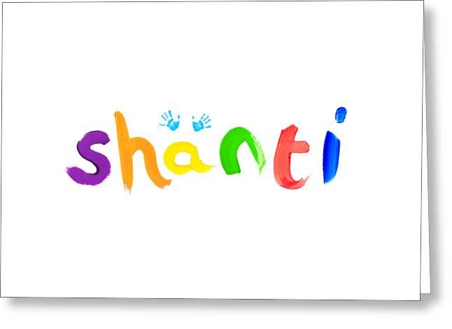 Orange Shirt Greeting Cards - Shanti Greeting Card by Tim Gainey