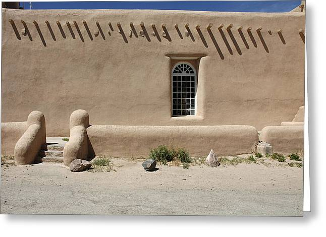Taos Greeting Cards - Shape and Pattern Greeting Card by Jerry McElroy