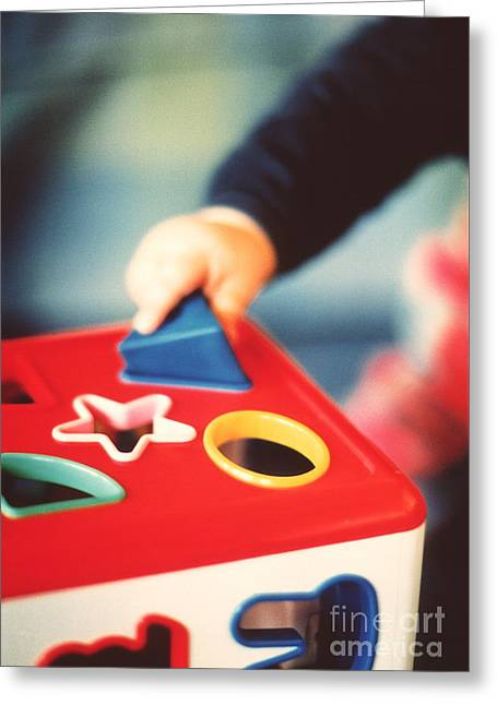 Shape Sorter Toy Greeting Card by Sue Baker