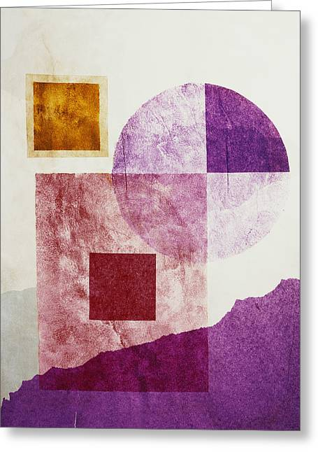 Abstract Shapes Greeting Cards - Shapes Greeting Card by Bekare Creative