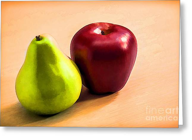 Pear Digital Greeting Cards - Shapes Greeting Card by Charuhas Images