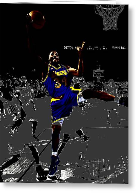 Nba All Star Game Greeting Cards - Shaq Greeting Card by Brian Reaves