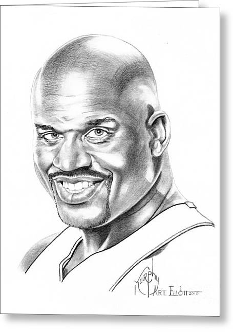 Shaquille O'neal Greeting Card by Murphy Elliott