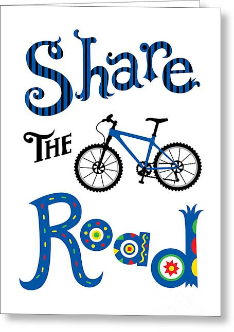 Andi Bird Greeting Cards - Share the Road Greeting Card by Andi Bird