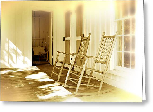 Old Porch Greeting Cards - Shared Moments Greeting Card by Mal Bray