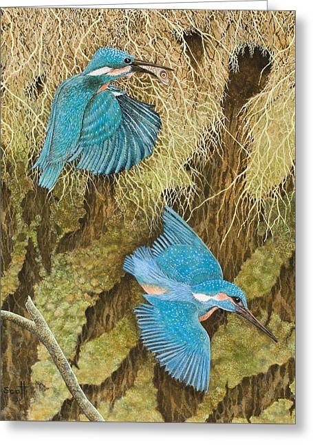 Pair Drawings Greeting Cards - Sharing the Caring Greeting Card by Pat Scott