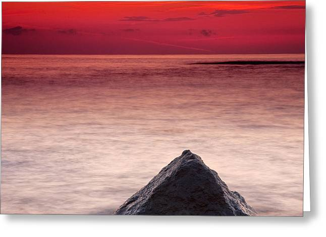 Ocean Shore Greeting Cards - Shark Fin Greeting Card by Evgeni Dinev
