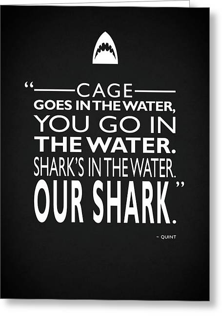 Sharks In The Water Greeting Card by Mark Rogan