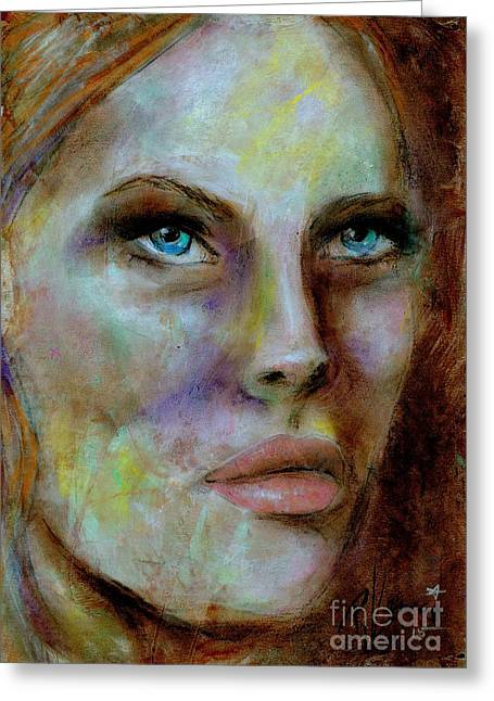 Exotic Pastels Greeting Cards - Sharon Greeting Card by P J Lewis
