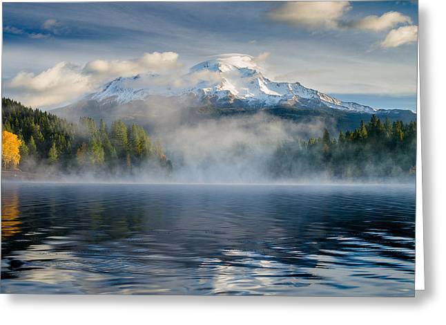 Shasta Mists And Morning 1 Greeting Card by Greg Nyquist
