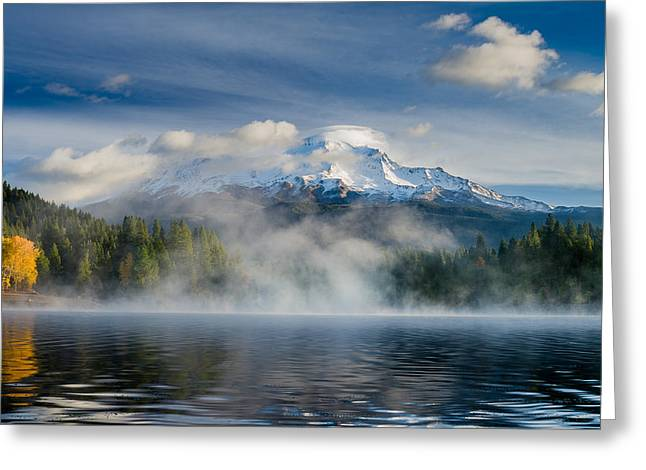 Shasta Mists And Morning 2 Greeting Card by Greg Nyquist