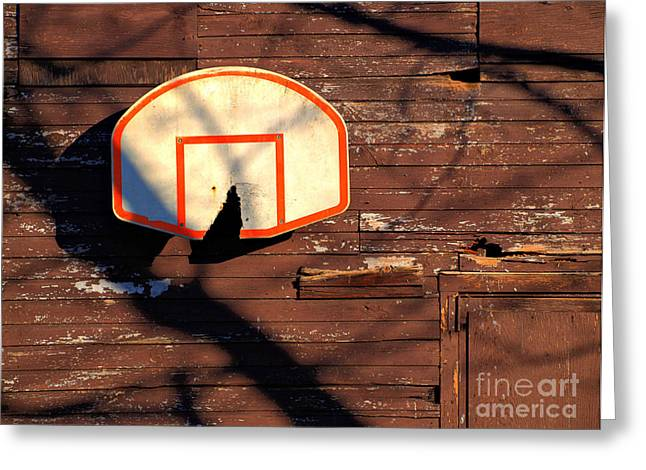 Backboards Greeting Cards - Shattered By Broken Dreams Greeting Card by Valerie Morrison