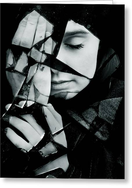 Shattered Greeting Card by Cambion Art