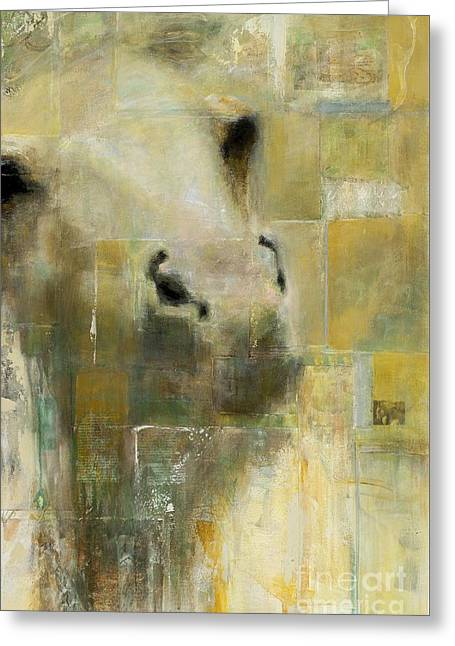 Equine Mixed Media Greeting Cards - Shattered Greeting Card by Frances Marino