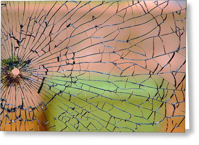 Colorful Photography Greeting Cards - Shattered Greeting Card by Karen M Scovill