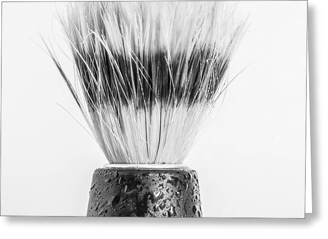Shaving Brush Greeting Card by Gary Gillette