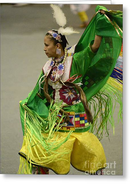 Fancy-dancer Greeting Cards - Pow Wow Shawl Dancer 3 Greeting Card by Bob Christopher