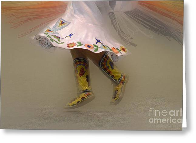 Fancy-dancer Greeting Cards - Pow Wow Shawl Dancer 8 Greeting Card by Bob Christopher