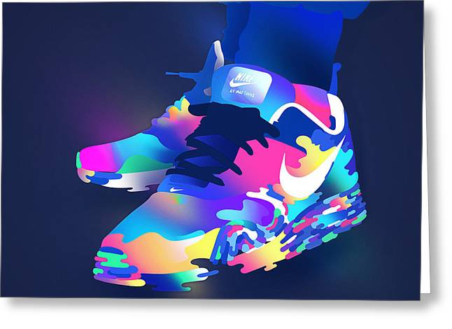 Nike Greeting Cards - She Have A Nike Shoes Greeting Card by Ikhsan Fawakal