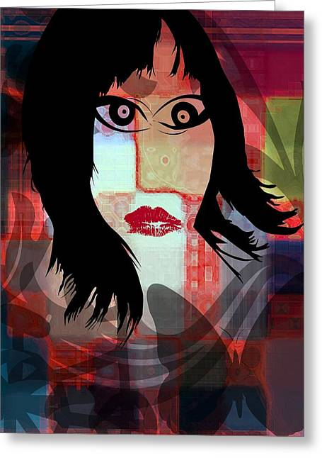 She Is Greeting Card by Fania Simon