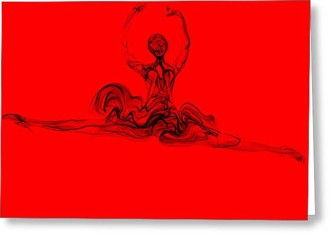She Leaps With Love Greeting Card by Abstract Angel Artist Stephen K
