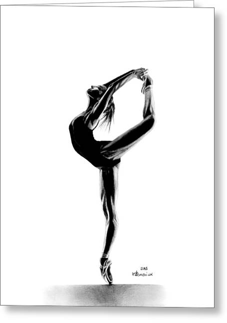 She Moves With Grace Greeting Card by Kayleigh Semeniuk