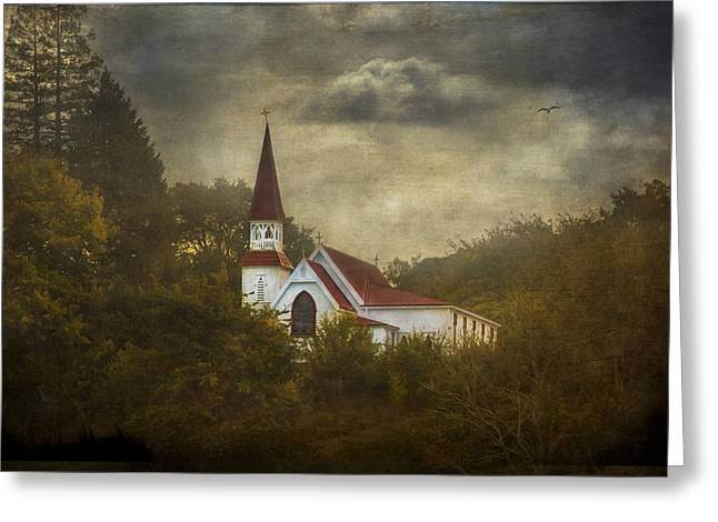 White Church Greeting Cards - She Rises Greeting Card by Constance Fein Harding